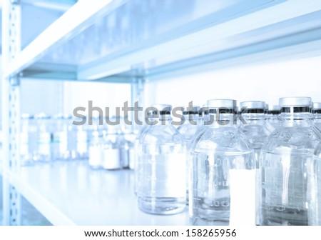 pharmaceutical warehouse. - stock photo