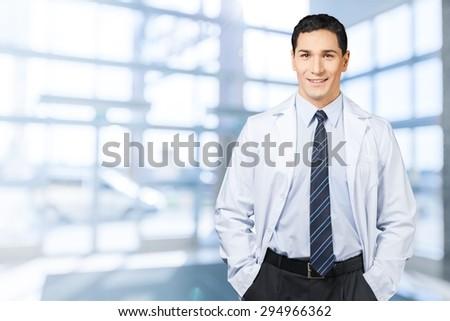 Pharmacist, dentist, scientist. - stock photo