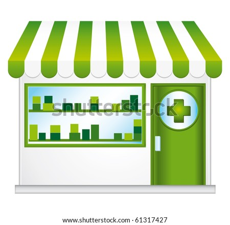 Pharmacy illustration. - stock photo
