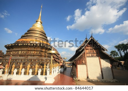Phathat Lampang Lhuang Temple at Lampang Thailand - stock photo