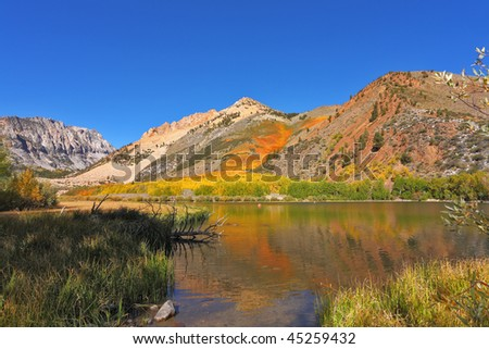 Phenomenally beautiful lake in vicinities of the city of  Bishop in California