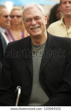 Phil Jackson at the Ceremony Honoring Los Angeles Lakers Owner Jerry Buss with the 2,323rd star on the Hollywood Walk of Fame. Hollywood Boulevard, Hollywood, CA. 10-30-06 - stock photo