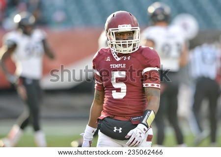 PHILADELPHIA - NOVEMBER 29: Temple Owls wide receiver Jalen Fitzpatrick (5) during the football game November 29, 2014 in Philadelphia.