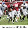 PHILADELPHIA, PA. - SEPTEMBER 26 : Temple Running Back Bernard Price (30) high-stepping against Buffalo on September 26, 2009 in Philadelphia, PA. - stock photo