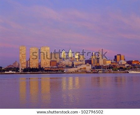 Philadelphia Skyline, Pennsylvania - stock photo
