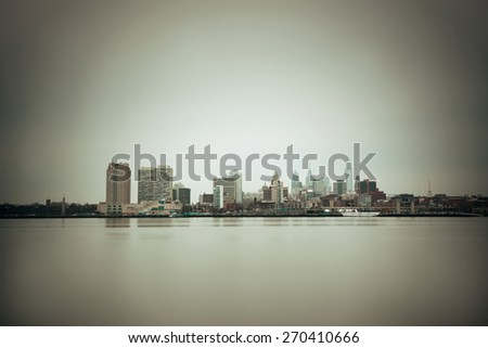 Philadelphia skyline with urban architecture. - stock photo