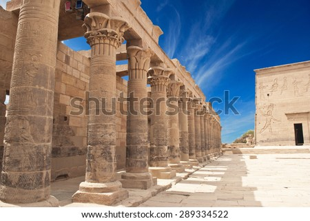 Philae Temple, Egypt  - stock photo