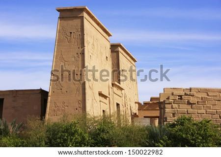 Philae Temple, Lake Nasser, Egypt - stock photo