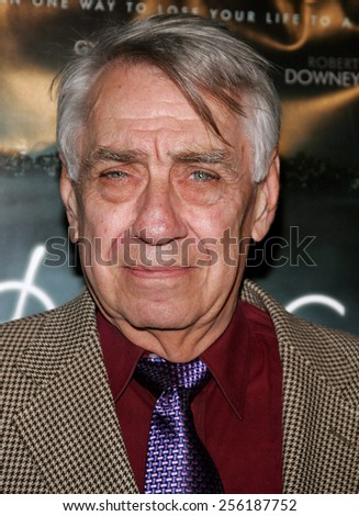 """Philip Baker Hall attends the Los Angeles Premiere of """"Zodiac"""" held at the Paramount Pictures Studios in Hollywood, California on March 1, 2007.  - stock photo"""