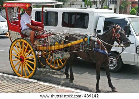 philippine horse drawn carriage - stock photo