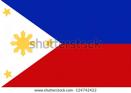 Philippines  flag drawing by pastel on charcoal paper - stock photo
