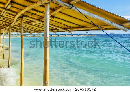 Philippines garden sea resort, South of the Philippines - stock photo