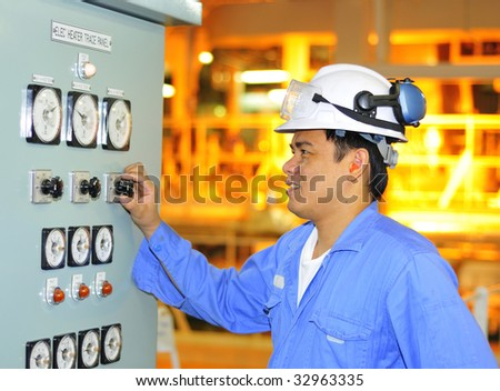 Philippines shipping engineer - stock photo