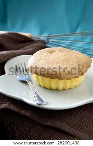 philippines style mamon sponge butter cake - stock photo