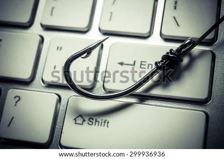 phishing attack - stock photo