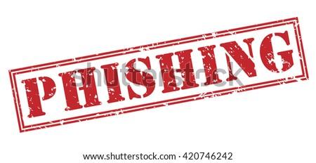phishing stamp - stock photo