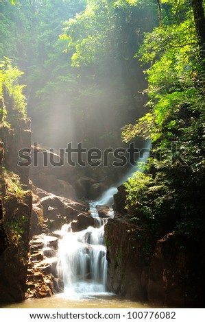 Phlio Waterfall, Chantaburi, Thailand - stock photo