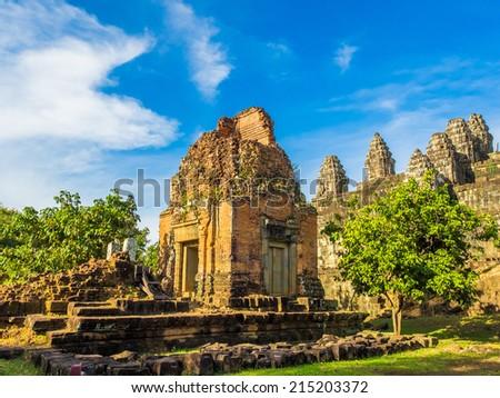 Phnom bakheng Temple,Angkor , Siem reap, Cambodia. - stock photo