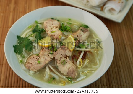 pho/Vietnamese cuisine - stock photo