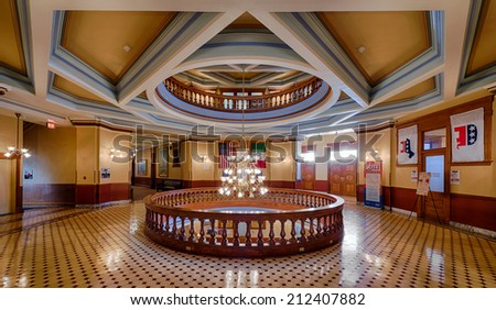 PHOENIX, ARIZONA - AUGUST 6: Rotunda of the Arizona State Capitol building on August 6, 2014 in Phoenix. Arizona - stock photo