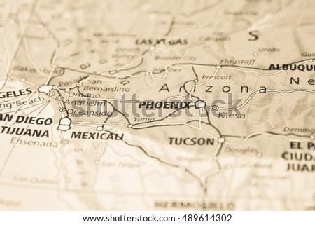 Phoenix City Map Stock Images RoyaltyFree Images Vectors - Phoenix us map
