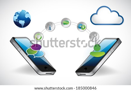 phone accessibility technology network concept. illustration design over a white background - stock photo