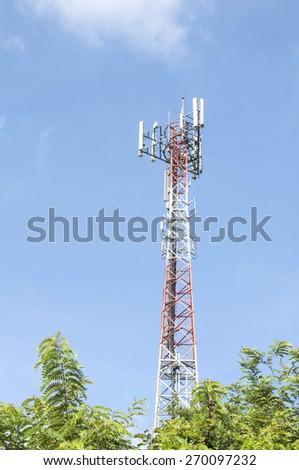 Phone Antenna - stock photo