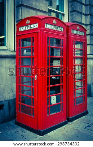 Phone booth - stock photo