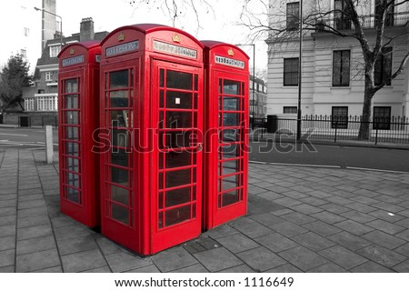 Phone boxes in London