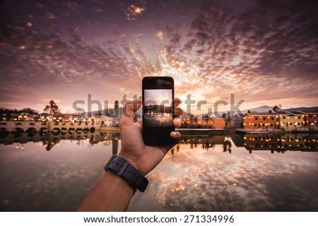 Phone camera - stock photo