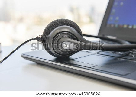Phone Headset and the Laptop