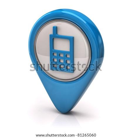 Phone icon - stock photo