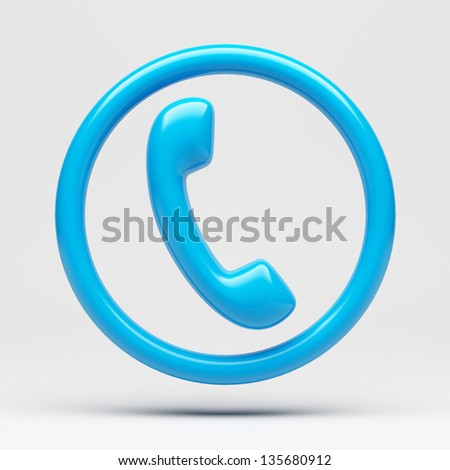 Phone Icon - Clipping Path - stock photo