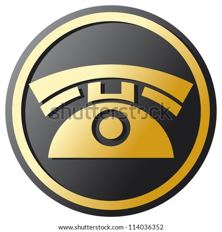 Phone Icon (telephone icon, phone button) - stock photo
