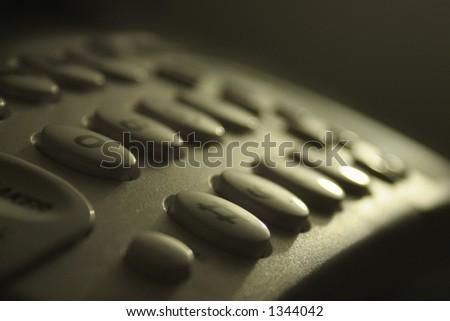 Phone keypad - stock photo