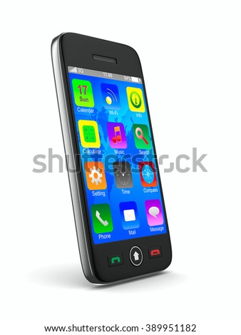 phone on white background. Isolated 3D image
