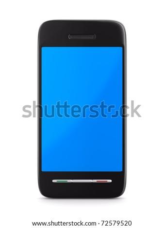 phone on white background. Isolated 3D image - Original design - stock photo