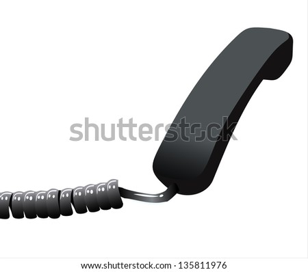 Phone reciever on white isolated background. - stock photo
