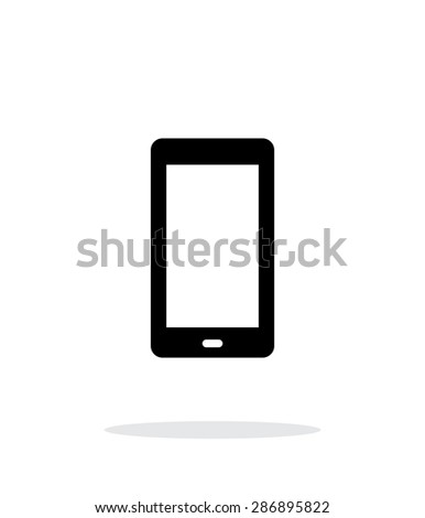 Phone screen simple icon on white background. - stock photo