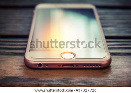 Phone. Small depth of field - stock photo