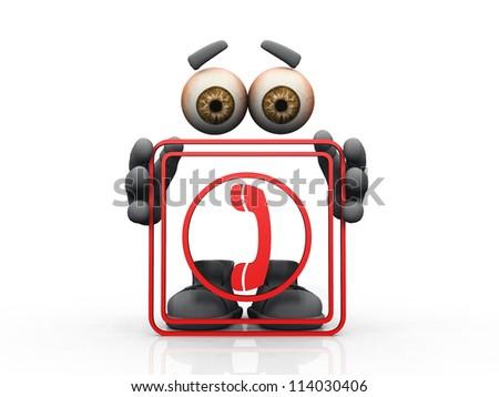 phone symbol on a white background - stock photo