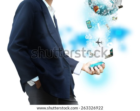 Phone technology - stock photo