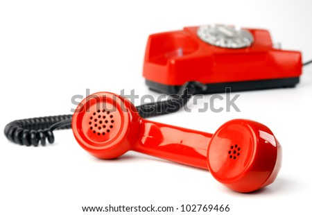 Phone vintage - stock photo