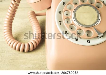 Phone vintage - stock photo