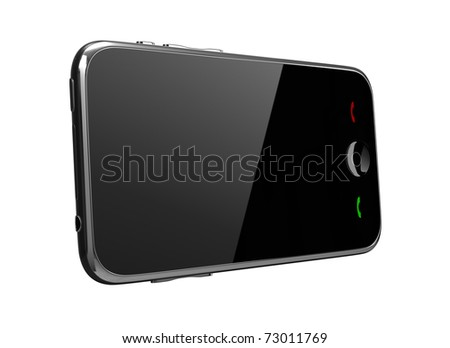 Phone with touch screen - stock photo