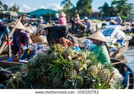 Phong Dien Floating Market - stock photo