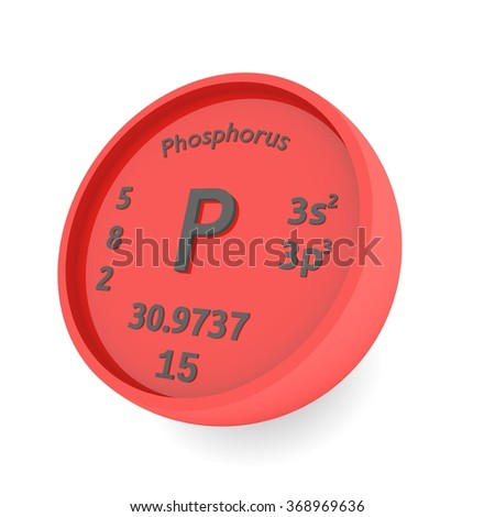 Phosphorus chemical element sign in periodic table - stock photo