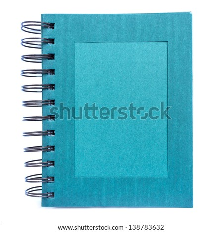 photo album with blank space isolated on white - stock photo