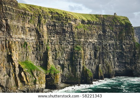 photo beautiful scenic landscape from the west coast ireland - stock photo
