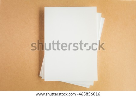 Photo blank book cover on recycled paper background